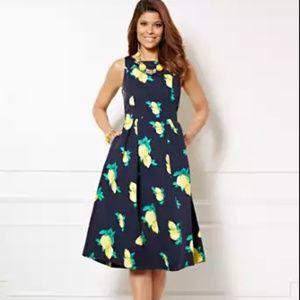 Lemon Fit/Flare Dress